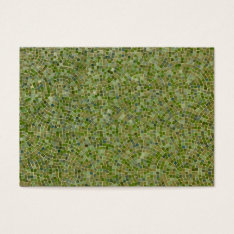 green tiles business card at Zazzle