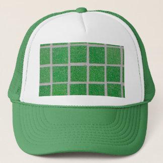 green tiles trucker hat