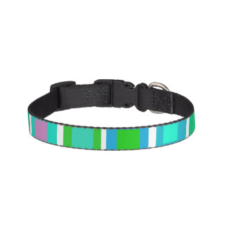 Green Tiles with a Purple Heart Pet Collars