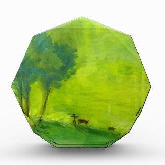 Green time acrylic award