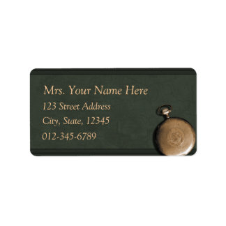 Green Timepiece Address Lables Label