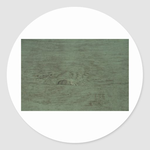 Green Tinted wood grain background Classic Round Sticker