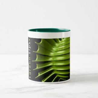 Green Tips Two-Tone Coffee Mug