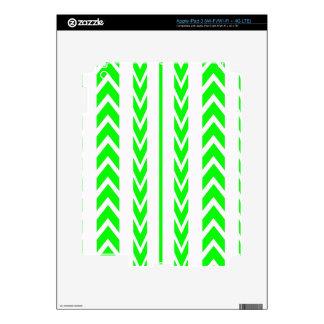 Green Tire Tread Decal For iPad 3