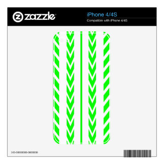 Green Tire Tread Decals For The iPhone 4S