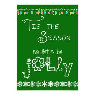 Green Tis the Season Holiday Party Invitation