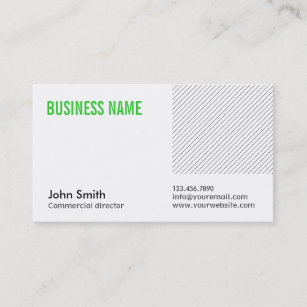 Music video director business cards zazzle green title commercial director business card colourmoves