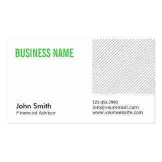 Green Title Financial Advisor Business Card