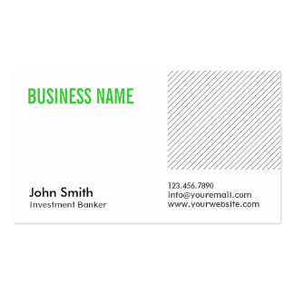 Green Title Investment Banker Business Card