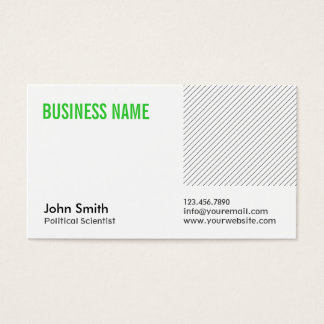 Green Title Political Scientist Business Card