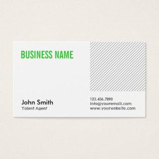 Green Title Talent Agent Business Card