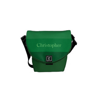 Green to Brown Stripes Courier Bag