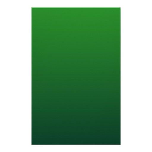 Green to Dark Green Horizontal Gradient Stationery Design
