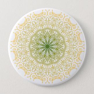 Green to Gold Mandala Button