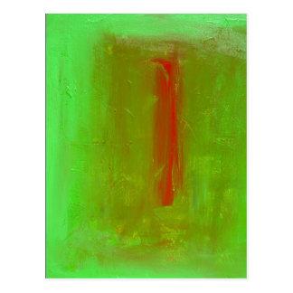 """Green to Red"" Josef Albers Homage Postcard Print"