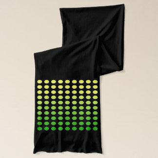 Green to Yellow Polka Dot Fade Scarf Version