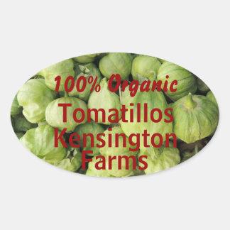 Green Tomatillo Canning Jar Label Custom