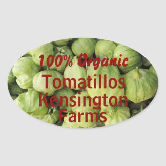 Green Tomatillo Canning Jar Label Custom Sticker