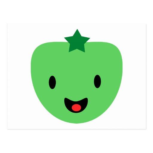 Green tomato postcard