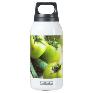 Green tomatoes and melons insulated water bottle