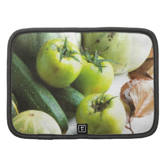 Green tomatoes and melons organizers