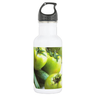 Green tomatoes and melons stainless steel water bottle