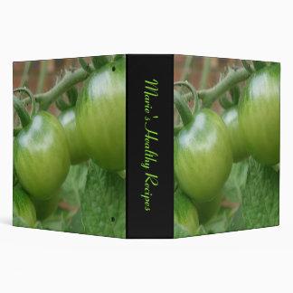 Green Tomatoes Custom Recipe Binder
