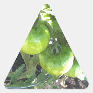 Green Tomatoes Triangle Sticker