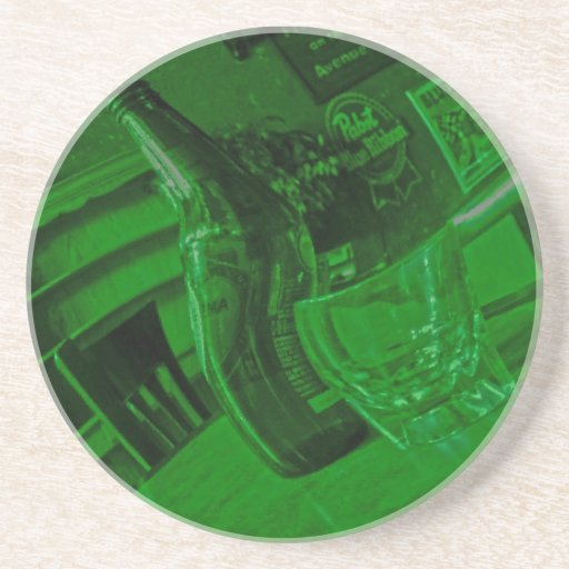 Green Tone Happy Hour Coaster