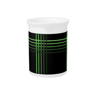 Green Tone stripe pattern ~editable background Beverage Pitcher