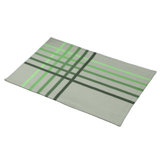 Green Tone stripe pattern ~editable background Placemat
