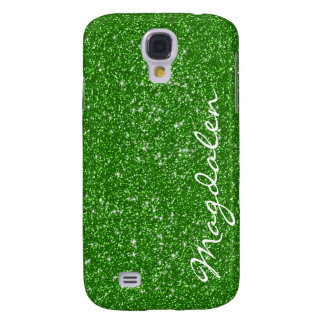 Green Tones Glitter & Sparkles Customized Galaxy S4 Cover