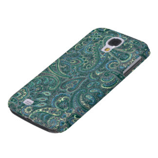 Green Tones Vintage Ornate Paisley Pattern Samsung Galaxy S4 Case