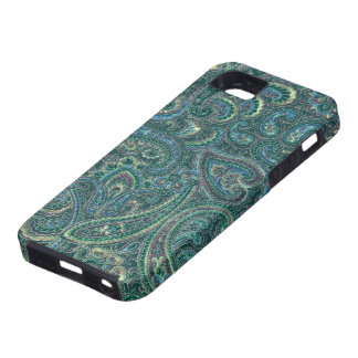 Green Tones Vintage Ornate Paisley Pattern iPhone SE/5/5s Case