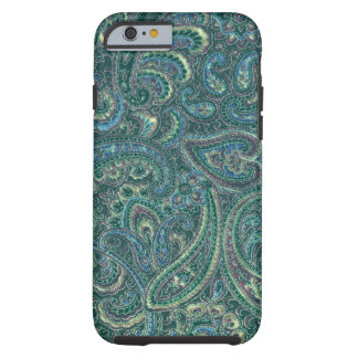 Green Tones Vintage Ornate Paisley Pattern iPhone 6 Case