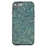 Green Tones Vintage Ornate Paisley Pattern Tough iPhone 6 Case