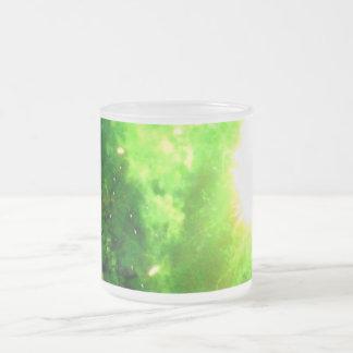 Green tonterías taza cristal mate
