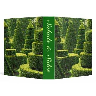 Green Topiary - Recipe Binder binder