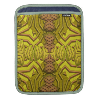 Green Totem Pattern iPad Sleeves