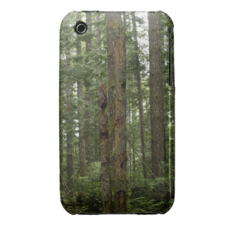 Green Totem Tree Forest Nature Scene iPhone 3 Case