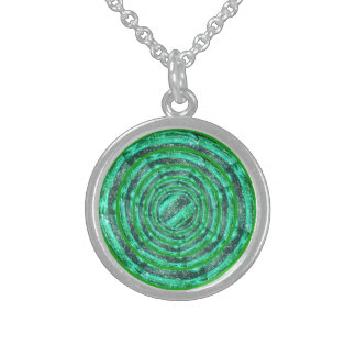 Green Tourmaline Rings Necklace