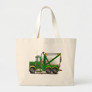 Green Tow Truck Wrecker Bags/Totes Large Tote Bag