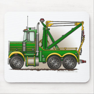 Green Tow Truck Wrecker Mouse Pad