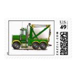 Green Tow Truck Wrecker Stamps