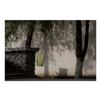 Green Towel Print