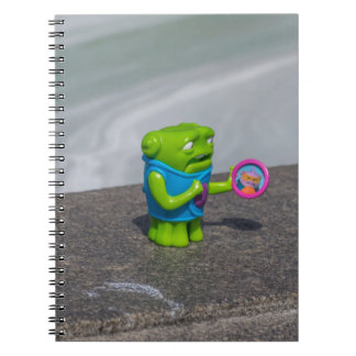 Green toy notebook
