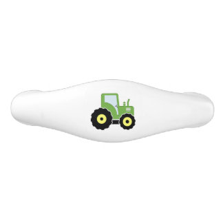 Green toy tractor ceramic drawer pull