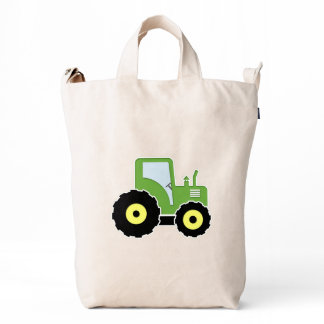 Green toy tractor duck bag