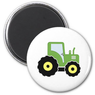 Green toy tractor magnet