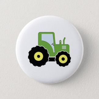 Green toy tractor pinback button